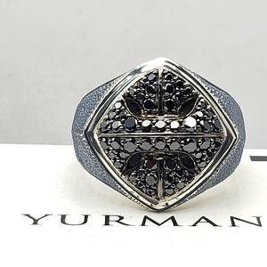 David Yurman Black Diamonds Armory Ring sz 9.5